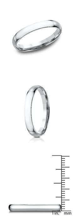 Bands without Stones 92852: Platinum Women S 3Mm Midweight Comfort Fit Wedding Band -> BUY IT NOW ONLY: $256.49 on eBay!