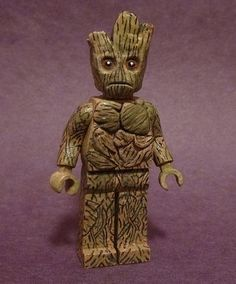 Lego Guardians of The Galaxy Groot Custom Minifigure - Visit to grab an amazing super hero shirt now on sale! Lego Minifigure Display, Lego Custom Minifigures, Lego Minifigs, Lego Duplo, Lego Star Wars, Batman Lego, Lego Pictures, Funny Pictures, Lego People