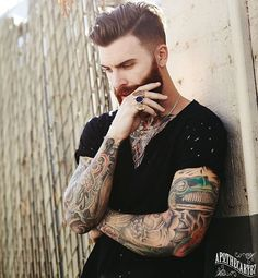"""I get asked a lot what I use in my hair. I use my signature product """"Lock,Stocke and Barrel"""" pomade designed with @apothecary87 ... It is matte finish with a medium hold and is my daily """"go to"""". Check it out the link is in my bio.  Ph: @gilsphotography #lockstockeandbarrel"""