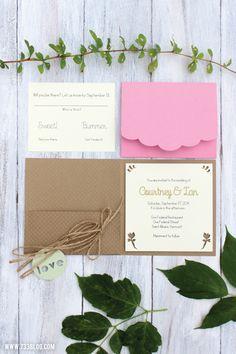 DIY Wedding Invitations made with Cricut Explore -- 733Blog. #DesignSpaceStar Round 3