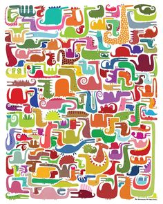 Exciting Learn To Draw Animals Ideas. Exquisite Learn To Draw Animals Ideas. Pattern Illustration, Character Illustration, Illustration Animals, Textures Patterns, Print Patterns, Pattern Designs, Stoff Design, Up Book, Kids Prints