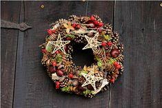 Přírodní vánoční věneček