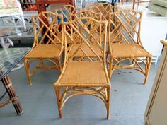6 Rattan CHIPPENDALE Chairs for the Dining Room ;)