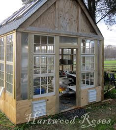 Start to finish; I like the idea of a garden shed doubling as a green house!