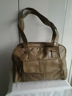 Lorenz Beige Leather Handbag
