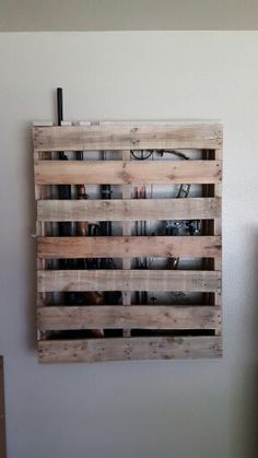 Palet Bow Gun Rack Color Stain W Thin Blue Line Make Hand