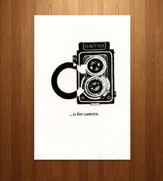 C is for Camera Letterpress Print