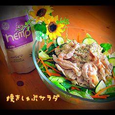 Tomoko Ito's dish photo ともちゃんの焼きしゃぶサラダ リピ | http://snapdish.co #SnapDish #レシピ #野菜料理 #おつまみ #ダイエット料理グランプリ2016 #肉料理