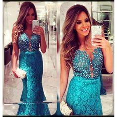 Beaded Prom Dress,Mermaid Evening Dress,Fashion Prom Dress,Sexy Party Dress,Custom Made Evening Dress