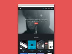 Simple is good. Clean is kind. Content is king.     New Portfolio Idea