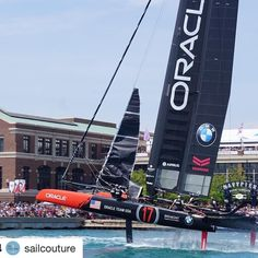 #Repost @sailcouture  Oracle Team USA putting on a show for the crowd  @sailcouture  #lvacwschicago #americascup #upshow #oracleteamusa #thewindycityismadeforthis #sailing #sailcouture #ShareMySea haremysea #ShareMySea