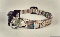 Personalized Cat collar small dog collar breakaway collar