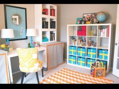 Office playroom combo. Awesome idea for small spaces
