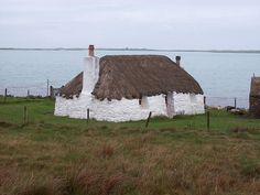A black house or Croft in North Uist - Scotland.