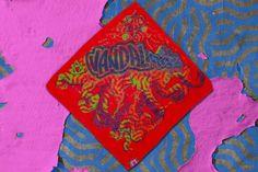 Red TNTCLS Art Print Bandanas   VANDALrgz   Online Store  Merchandise #VANDALrgz #bikepolo #lifestyle #streetwear