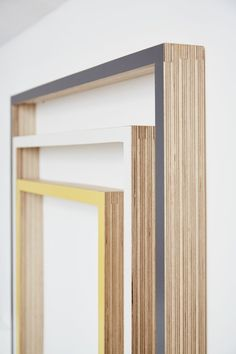 Side view of plywood picture frames by Lozi
