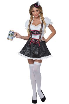 Fit right in at your next Oktoberfest event! Keep the beers coming as this flirty fraulein. Octoberfest Costume, Octoberfest Girls, Halloween Costumes For Girls, Adult Costumes, Costumes For Women, Holiday Costumes, Pretty Woman Costume, Beer Maid, German Costume