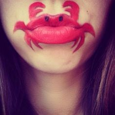 Laura Jenkinson has a pretty cool lip schtick. For the past year, the London-based makeup artist has been creating awesome-looking lip art that tr. Mouth Painting, Body Painting, Kids Makeup, Makeup Art, Tinta Facial, Nice Lips, Hair Spa, Face Painting Designs, Beautiful Lips