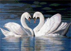 пара лебедей - Схемы вышивки - valentinastroilova - Авторы - Портал «Вышивка крестом»
