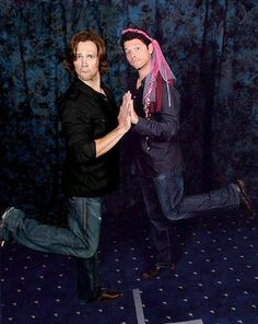 Jared Padalecki and Misha Collins. And people wonder why I have an unhealthy obsession with these men.