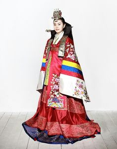 Hwarot -Korea traditional wedding dress and ceremonial dress of Princess