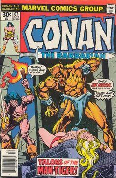 Conan the Barbarian #67. Cover by Gil Kane. #Conan #Gil Kane