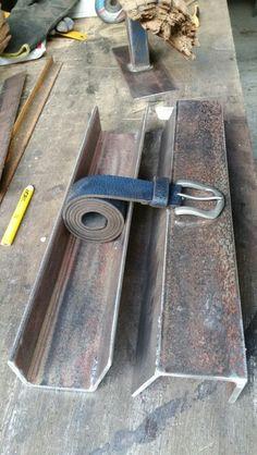 5mm scrap steel transformed into a belt stand