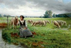 The young shepherdess GEORGES LAUGÉE (FRENCH, 1853-1928)