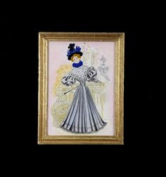 Dollhouse Miniature Painting Original Artwork 112 by MiniatureJoy