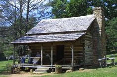 Old log cabins
