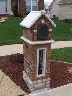Brick Mailbox Stone New Numbers Post Ideas