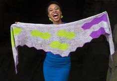 """The """"Wings"""" shawl shown in a recent Handwoven Reader's Gallery article comes with a special story … please allow me to share … Loom Weaving, Hand Weaving, Long Distance Friendship, Soft And Gentle, Yarn Shop, Elite Socks, Precious Moments, Green And Purple, Bold Colors"""