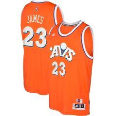 adidas Men s Cleveland Cavaliers LeBron James  23 Alternate Orange Swingman  Jersey  59ae60aeb