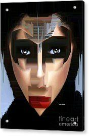 Can You Tell Acrylic Print by Rafael Salazar