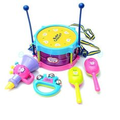 nice Hot! 5pcs Kids Roll Drum Musical Instruments Band Kit Children Toy Gift Set New - For Sale Check more at http://shipperscentral.com/wp/product/hot-5pcs-kids-roll-drum-musical-instruments-band-kit-children-toy-gift-set-new-for-sale/