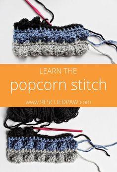 Crochet the Popcorn Stitch - Tutorial ❥ 4U // hf  http://www.pinterest.com/hilariafina/
