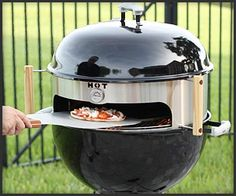 First, I need a charcoal grill. Then, I have to turn it into a pizza oven with this!