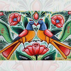 The Birds Rickshaw paintings