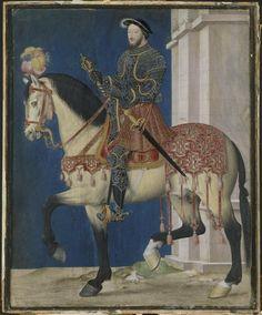Jean Clouet (15th century AD - 1540), Portrait équestre de François Ier