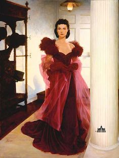 Scarlett ohara red dress costume 60