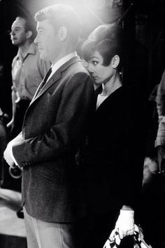 Peter OToole and Audrey Hepburn on the set of How to Steal a Million
