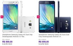 "Samsung Galaxy A5 Duos Dual Chip Android 4.4 Tela 5"" 16GB 4G Wi-Fi Câmera 13MP << R$ 89900 em 6 vezes >>"
