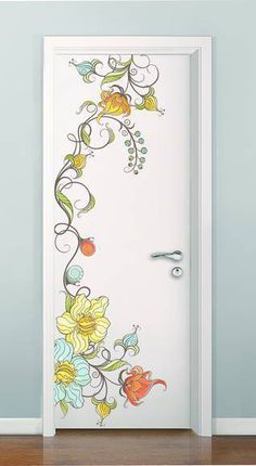 Best Painted Door Interior Diy 22 Ideas I believe there is a new syndrome that psychiatrists need to Door Murals, Art Mural, Diy Interior Doors, Painted Doors, Painted Bedroom Doors, Home And Deco, Cool Paintings, Paint Designs, Diy Wall