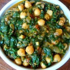 Spinach with Garbanzo Beans - Portuguese Food - Portuguese Food Recipes