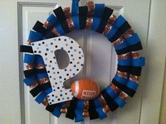 Carolina Panthers wreath