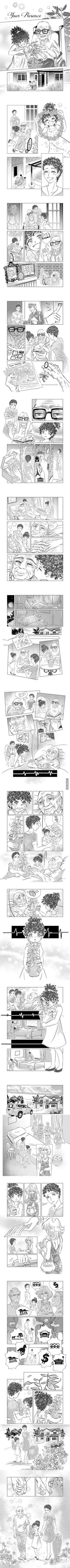 The last gift of love (Art By: Eliana Mauceri) (Money is not everything 'cuz you can't buy happiness with money) More memes, funny videos and pics on Happy Stories, Cute Stories, Funny Photos Of People, Best Funny Pictures, Money Is Not Everything, Image Triste, Triste Disney, Human Kindness, Comics Story