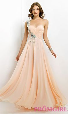Jeweled One Shoulder Prom Gown by Blush 9760 at PromGirl.com