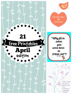 Free Printables for April - Debbiedoo's