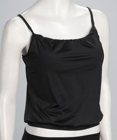 Take a look at this Black Blouson Tankini Top by Jantzen on #zulily today! $29.99, regular 72.00.  Sale ends in 1 days, 16 hours; or, in other words on Saturday, June  8th in the afternoon. So if you're interested, get on it! :)