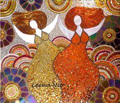 mosaico em circulos